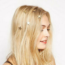 Lovely Women Lady Star Gold Swirl Hair Pins Clip Hairpin Barrettes Gift Fashion