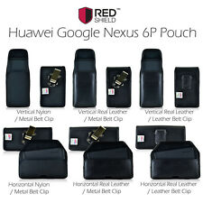 Huawei Google Nexus 6P Pouch, Turtleback Real Leather Holster Pouch Case