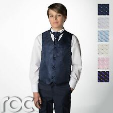 Boys Waistcoat Suit, Page Boy Suits, Navy Trousers, Fleck Waistcoat, 3m - 14yrs
