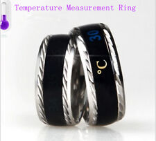 Couple Titanium Steel Comfort Fit Wedding Bands Promise Temperature Ring Gifts
