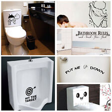 Quality Bathroom Toilet Decoration Seat Art Wall Stickers Decal Home Decor WF