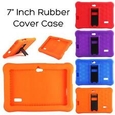 "7"" Inch Rubber Cover Case Tablet Soft Silicone PC For Q8 Android Kids with Stand"