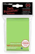 (12) ULTRA PRO 50CT LIME GREEN STANDARD DECK PROTECTOR SLEEVES #84099 NEW