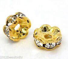 Wholesale Ornate Gold Plated Rondelles Spacer Beads 5mm Dia