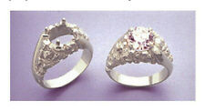 9-12mm Round Nugget Swirl 10kt Gold RESIZED Pre-Notched Ring Setting (Size 7-14)