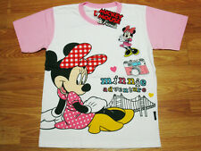 Minnie Mouse Girl White Cotton Top T-Shirt Size 10-14 age 8-14