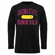 Mens Arizona State Sun Devils Black Straight Out Long Sleeve Thermal T-Shirt