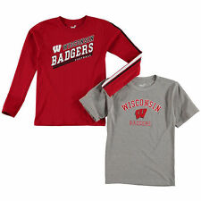 Wisconsin Badgers Youth Classic Fade T-Shirt Set - Gray - College