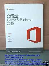 MICROSOFT OFFICE HOME AND BUSINESS 2016 for PC - NEW SEALED BOXED ( T5D-02374 )
