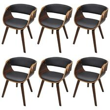 New Set of 1/2/4/6 Dining Chair with Padded Bentwood Seat Kitchen Living Room