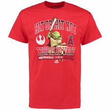 Los Angeles Angels of Anaheim Majestic Star Wars Hit or Hit Not T-Shirt - Red