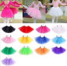 Girls Kids Dance Tutu Tulle Skirt Petti skirt Ballet Party Dress Fancy Costume