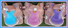 "Popular Western Mini Pony Trail Barrel Saddle 12"" BLuE PiNk PuRpLe- Gator Seat"