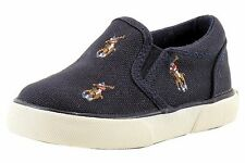 Polo Ralph Lauren Toddler Boy's Navy Bal Harbour Repeat Fashion Sneaker Shoes