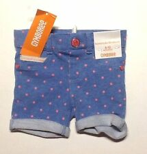 Gymboree NWT Girls Ice Cream Parlor Dot Jean Bermuda Shorts Size 12-18 M 2T & 3T