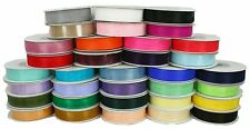 "5 ROLLS 5/8"" Organza Plain Ribbon 25 yards each (125 Yards Total) BULK BUY!!!"