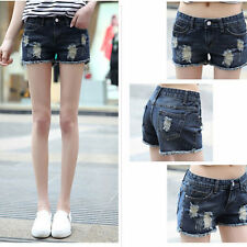 Summer Fashion Womens Sexy Holes Jeans Hot Pants Casual Denim Short Shorts
