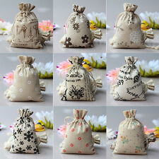 Popular Small Burlap Jute Hessian Wedding Favor Gift Bag Drawstring Pouch Sack
