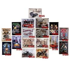 Man Cave Car Poster Vintage Tin Metal Signs Motorcycle Home Pub Bar Wall Plaque