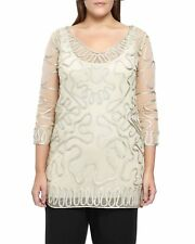 WINDSMOOR Beautiful Oyster Lace Tapework Tunic Top with Cami   SALE   Was £79