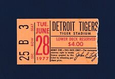 Detroit Tigers vs Boston Red Sox 1977 ticket stub Yaz and Lynn homeruns