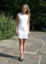 DICKINS & JONES Cream Tailored Fitted Shift Dress | SALE | 1/2 Price