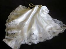 SALE! White Satin French Knickers LAST ONES! Most Sizes Lacy Slinky Panties NEW