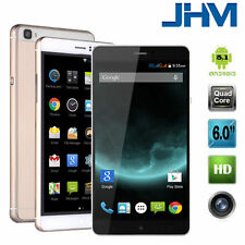 New 6''Unlocked Android 5.1 Quad Core 2Sim 3G/GSM  Mobile Smart phone GPS AT&T