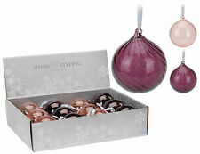 Quality Real Glass Purple Christmas Tree Decorations Glass Christmas Baubles