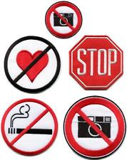 Sign symbol signal warning danger sew applique iron-on patch your choice SN-2