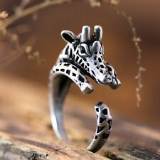 Retro Silver/Bronze 17MM Giraffe Head Animal Knuckle Rings Women's Ring Jewelry