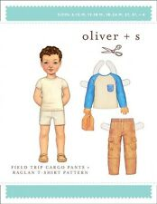 Oliver + S Boys Sewing Pattern Field Trip Cargo Pants & Raglan T-Shirt (O...