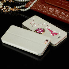 Slim Luxury Diamond Leather Case Magnetic Flip Wallet Cover For Apple iPhone