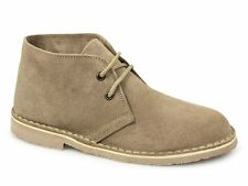 Roamers MACIE Ladies Soft Suede Leather Lace Up Casual Desert Boots Taupe