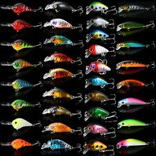Lot 35pcs Mixed Minnow Fishing Lures Bass Crankbait Hooks Tackle Crank Baits