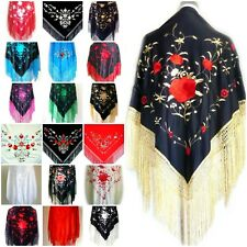 Beautiful New Embroidered Spanish Flamenco Dance Shawl - Lots of Colours - Large