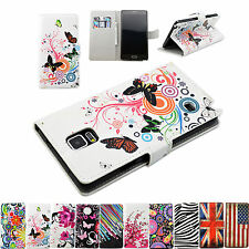 Flower Series Magnetic Flip PU Leather Stand Wallet Cover Case For Samsung Phone