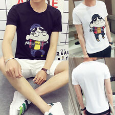 Fashion Summer Teens Casual Comfortable Tops Tee Shirt Slim Short Sleeve T-Shirt