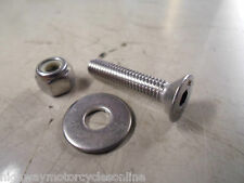 M5 5MM A2 STAINLESS STEEL CSK COUNTERSUNK ALLEN BOLT + NYLOC NUT + WASHER