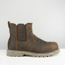 Amblers Safety FS165 Unisex Mens Ladies SB P SRA Chelsea Safety Boots Brown