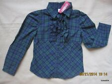 Gymboree Holiday Classics Plaid Tuxedo Blue Green Red Top Shirt 4-4T-10 NWT New