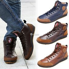 New Men's Fashionable Casual Sneaker Lace-up Shoes Flat Shoes Sport DZ88