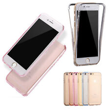 UltraSlim Shockproof TPU 360° Full Body Soft Clear Case Cover For iPhone 6s Plus