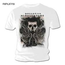Official T Shirt Bullet For My Valentine  Snakes & Skull White All Sizes