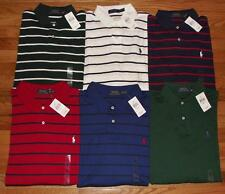 NWT Mens Polo Ralph Lauren Medium Fit Polo Shirt Pony Logo Long Sleeve 6-Colors
