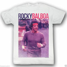 T-Shirts Sizes S-2XL New Authentic Mens Rocky Balboa Running Photo T-Shirt