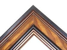 """2"""" Country Rustic Brown/Espresso Two-Tone Pine Solid Wood Picture Frame-Standard"""