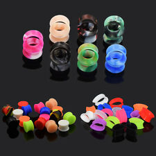 50PC Colorful Silicone Flesh Tunnel + Solid Saddle Ear Plug + Teardrop Ear Gauge