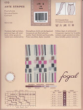 Fogal Arte Stripes pantyhose, sheer with abstract pattern. Special edition