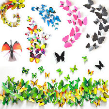 18/12PCS 3D Art Crystal Butterfly Beauty DIY Home Decor PVC Wall Stickers Decals